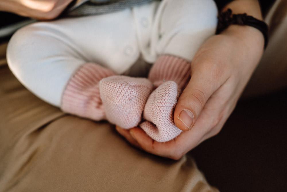 Babyfüße Details Fotoshooting