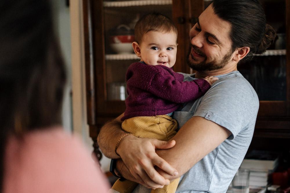 Papa und Baby - Babyfotografie, Familienfotografie